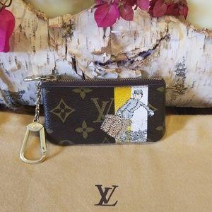Louis Vuitton keychain card holder groom bag